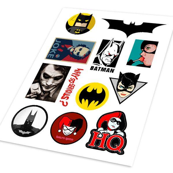Бэтмен Робин Агенты ЩИТ Отражающей Хо Авто Мотоциклов Наклейка Набор Наклейка Обложка Ipad Ноутбук Ноутбук Handy Стайлинга Автомобилей