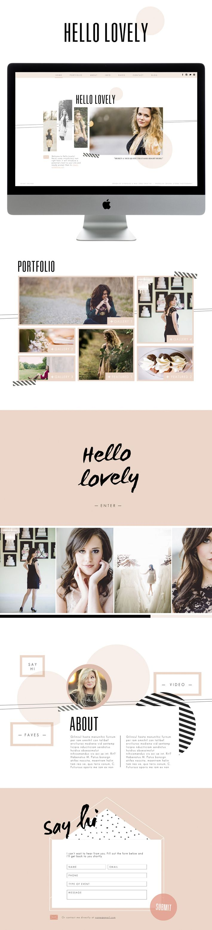 LOVE THE COMBO OF SIMPLE PATTERNS (stripes  solids) Hello Lovely - Designed by Meg Long for SiteHouse by Promise Tangeman