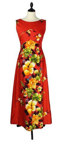 Beautiful Hawaiian Floral Vintage Maxi Dress – Third Rail Boutique
