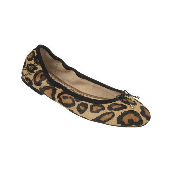 Women's Sam Edelman Felicia Ballet Flat ($120) ❤ liked on Polyvore featuring shoes, flats, ballet flats, casual, animal print ballet flats, leopard print ballet flats, ballet flat shoes and animal print flats