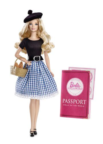Bonjour! Barbie doll warmly welcomes you to France a country rich in tradition and famous for its fashion and food. Look beyond the cities and you'll find a countryside teeming with lush landscape...