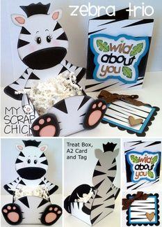 Zebra Treat Box Trio: click to enlarge