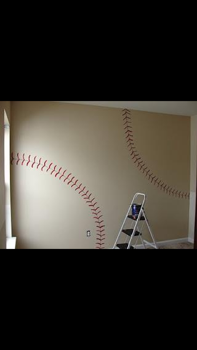 another way to paint it-Baseball room