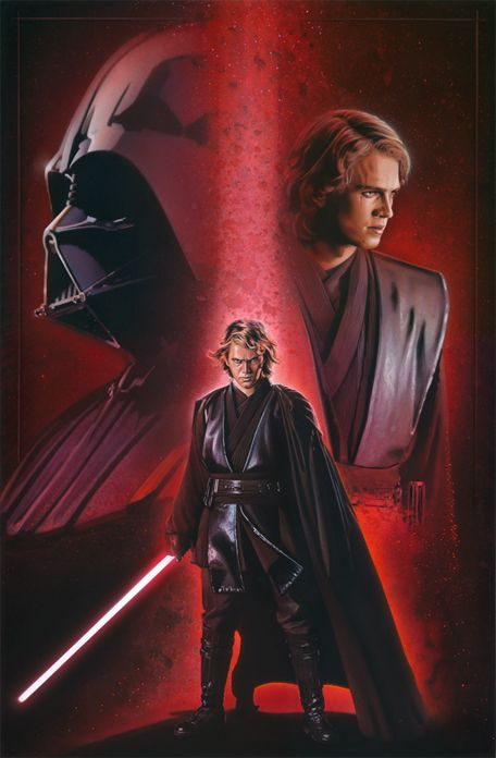 Star Wars - Anakin Skywalker by Brian Rood~~ I can not for the life of me connect this whiney lil squirt to the bad dude DARTHVADER