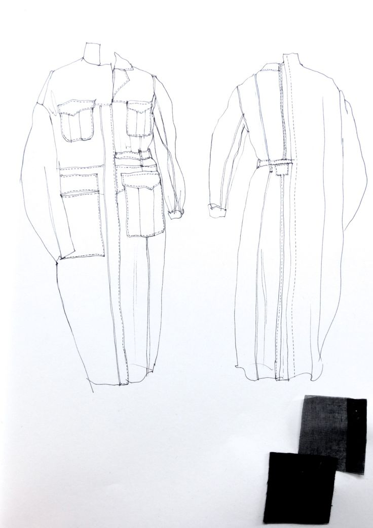 Fashion Sketchbook - jacket design development; fashion drawing; fashion portfolio // Connie Blackaller