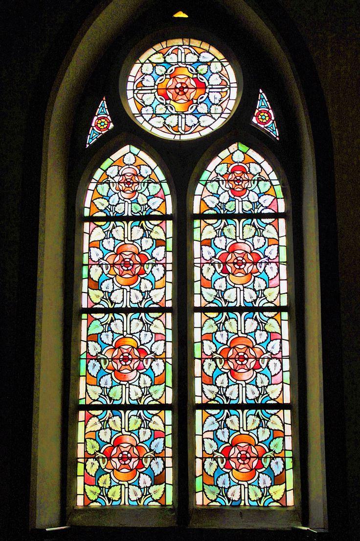 Lovely stained glass window in Solingen Castle.