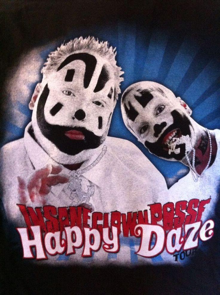 Icp Happy Daze Tour 3XL Tshirt Insane Clown Posse Dates New