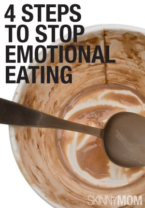 Emotional eating can be stopped. Read here for 4 helpful steps!