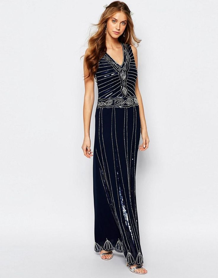 Maya | Maya Vintage Embellished Maxi Dress at ASOS