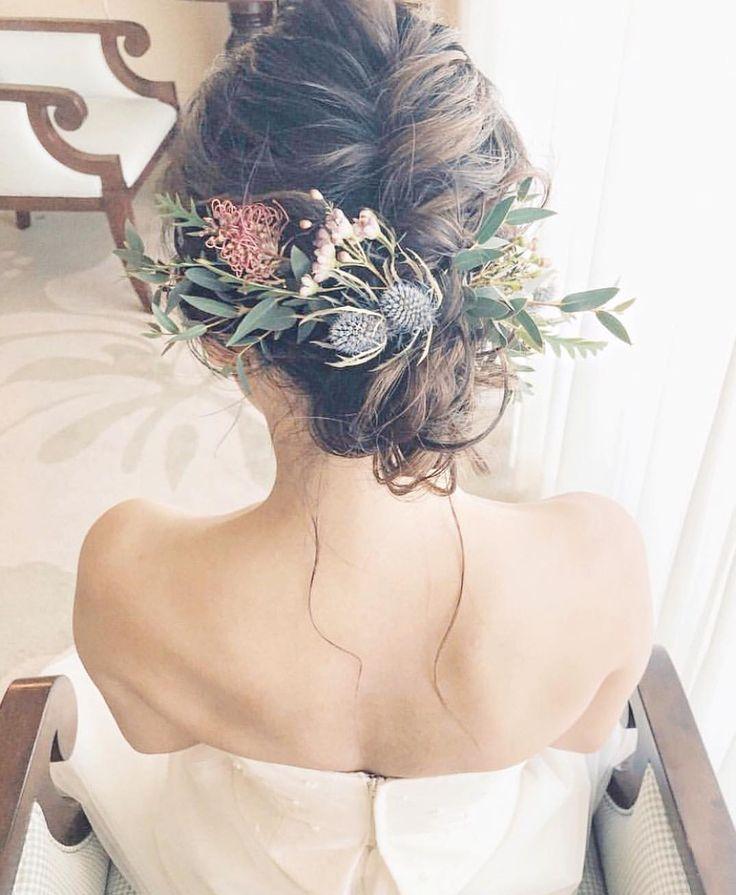 いいね!1,364件、コメント1件 ― プレ花嫁の結婚式準備アプリ♡ -ウェディングニュース-さん(@weddingnews_editor)のInstagramアカウント: 「* * #ナチュラル & #アンティーク な #ヘアスタイル がオシャレでとっても素敵 * * こちらのお写真は #ハワイ #ブライダルヘア メイクアーティスト…」