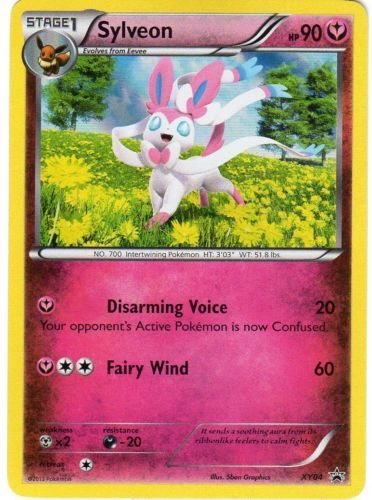 Pokemon Promo Set Sylveon Rare Holographic Promo Card Xy4 Fairy Type