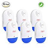 Pest Control Ultrasonic Repeller – Set of 6 Spider Repellent with Nigh Light-Electronic Plug In Repellent Indoor for Mosquitoes, Mice, Spiders, Ants, Rats, Roaches, Bugs, Non-toxic, Humans & Pets Safe   ELIMINATE ALL TYPES OF RODENTS & INSECTS – Protects your home from...