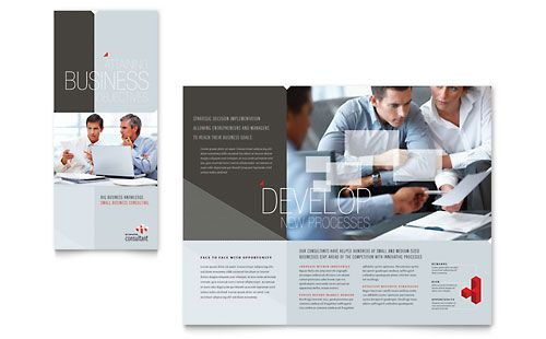 Corporate Business Tri Fold Brochure Template Design | StockLayouts