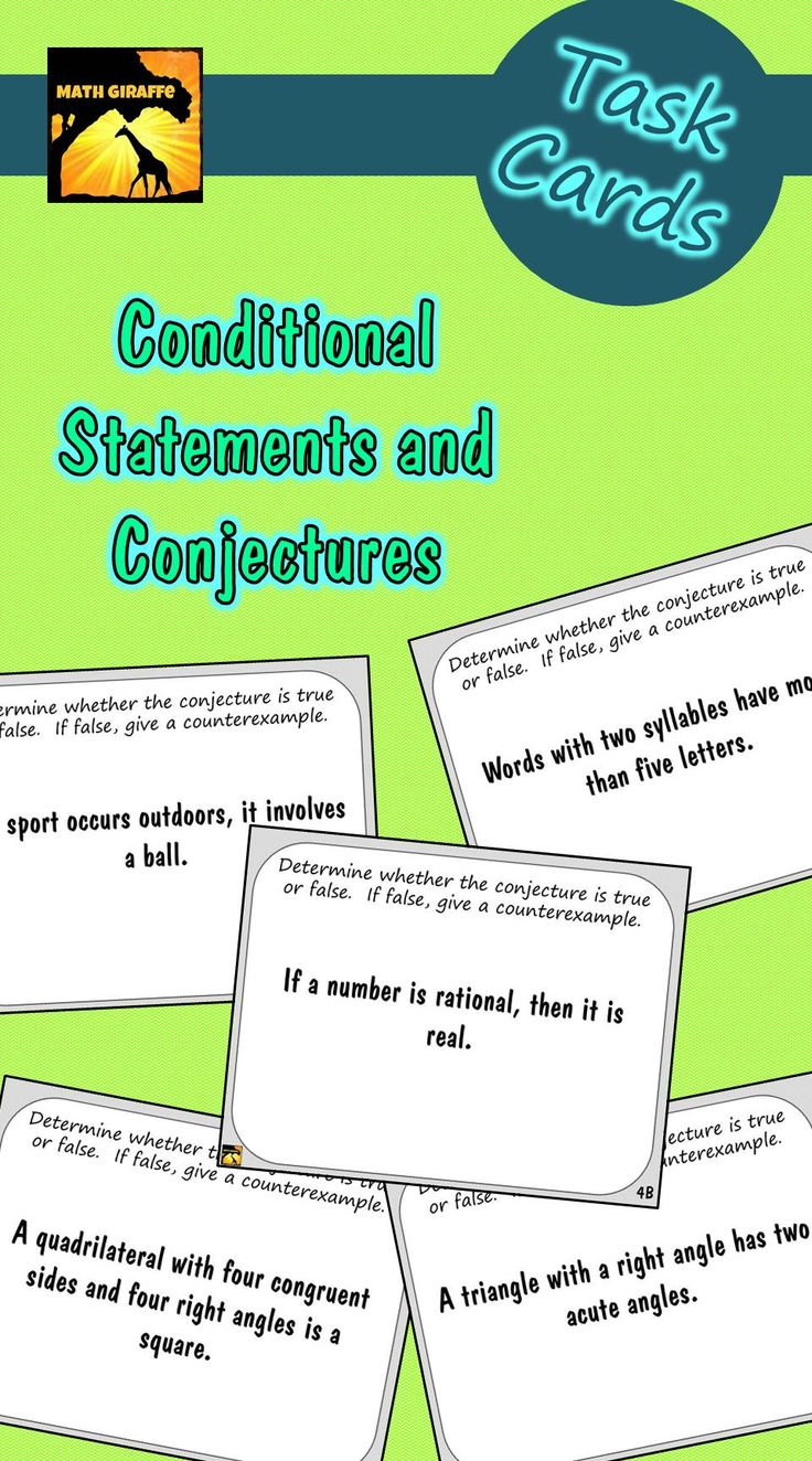 Task Cards: Conditional Statements And Conjectures Pt Question Of The Day  Apppleting The Square