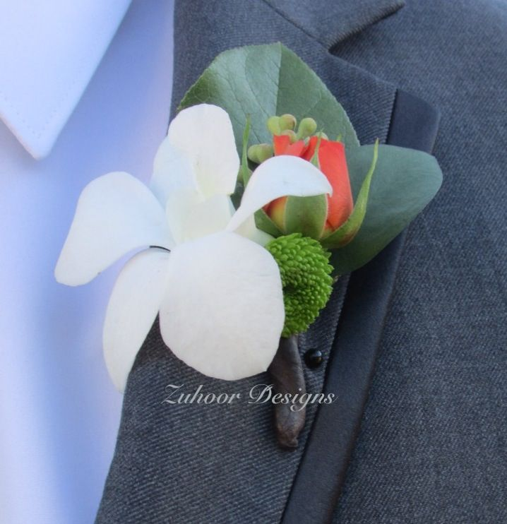 Fresh white orchid.