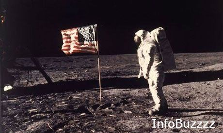 """At 10:56 p.m. EDT, American astronaut Neil Armstrong, 240,000 miles from Earth, speaks these words to more than a billion people listening at home: """"That's one small step for man, one giant leap fo..."""