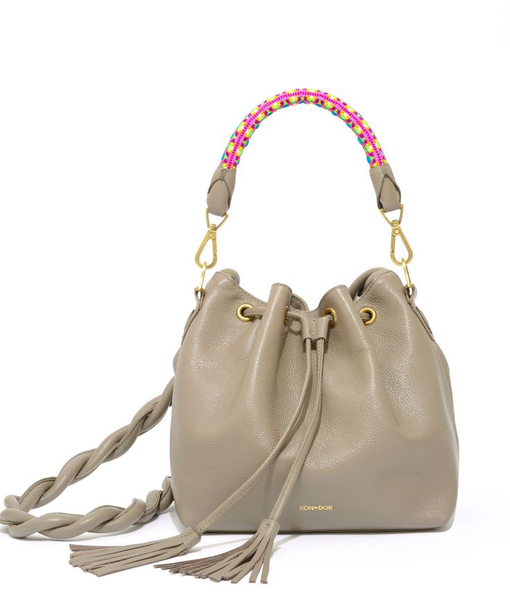 Bucket perfection! Boho chic, Kori bucket is as original as you are! Get yours asap! Kondor handbags, perfect bucket bag!