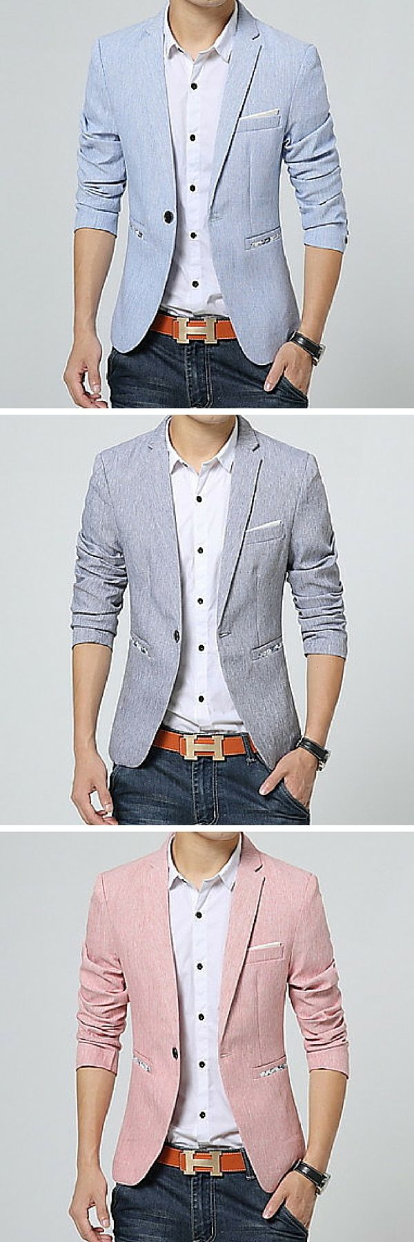 This cotton blazer is a must-have for any guy with style. It's an amazing weight…