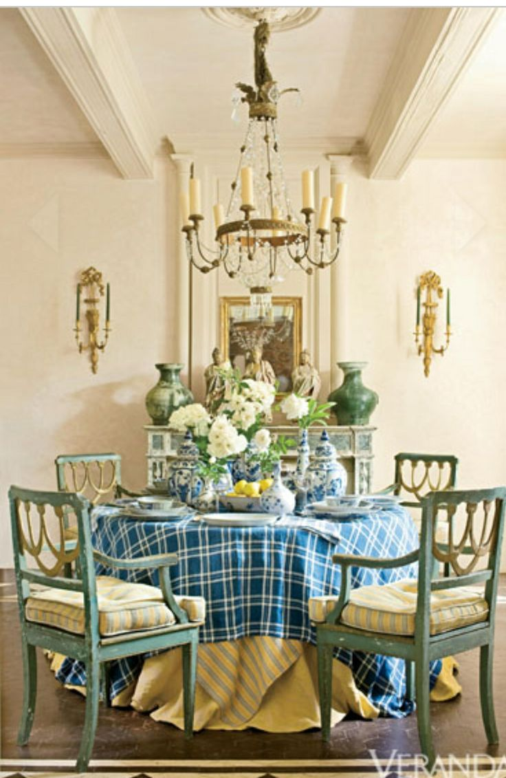Blue and White Porcelain - Delft and Chinoiserie China - Veranda Green and  Blue palate