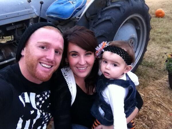 Heath Slater, his wife Stephanie Jean, & their daughter Snow