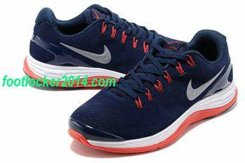huge selection of c6d62 2edc9 Nike Lunarglide Mens Running Shoe Dark Blue Red
