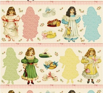 Blue Hill Victorian Paper Dolls Pink Victorian Paper Doll Cut Outs