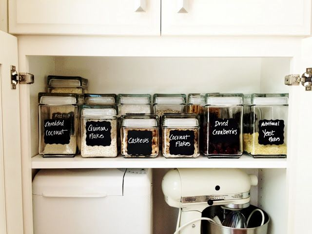 Organizing your food jars with hand made chalk labels!  Easy to make and a fun project.