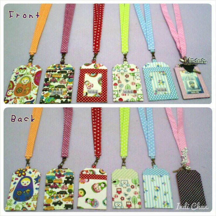 Cute id card holder.  Made with ♥ #idcardholder