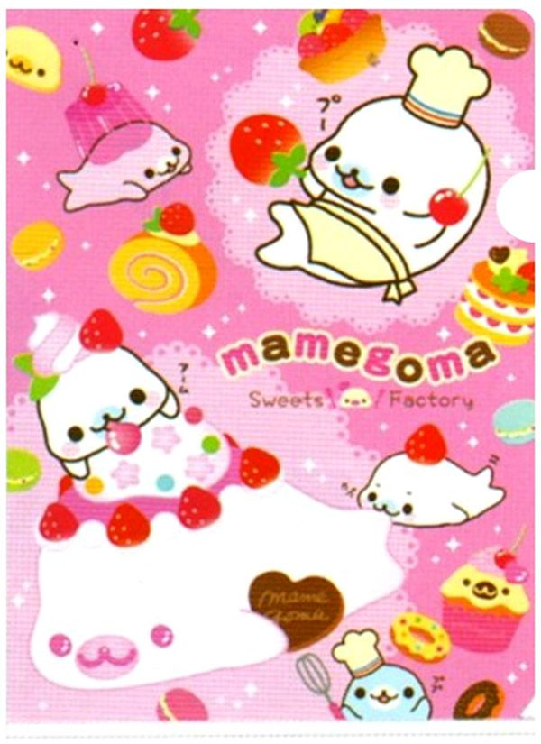 sanx mamegoma sweets factory plastic file folder http