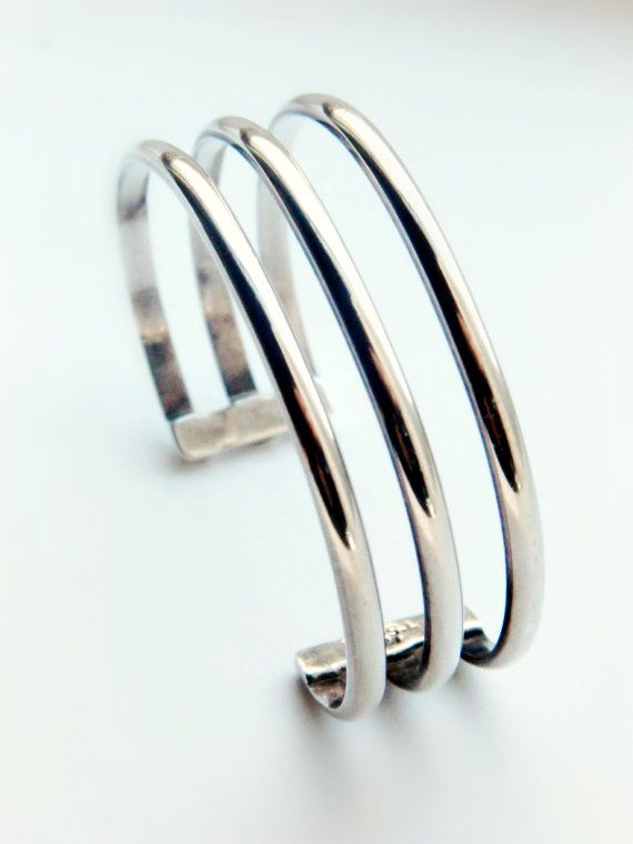 Sterling Silver Taxco Cuff Bracelet / Mexico