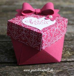 Stampin up, Diamant Box, Liebesblüten, Blumen für Dich