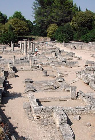 Roman city of Glanum, St. Remy, France