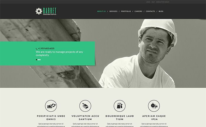 Top 20 Construction and Architecture WordPress Templates for 2016