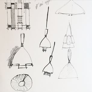 sketches from the 50s of Dokka by Birger Dahl