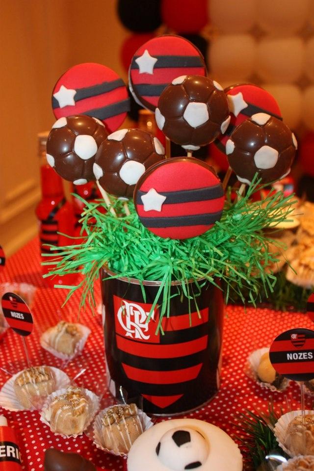 Pirulitos de Chocolate Festa Flamengo