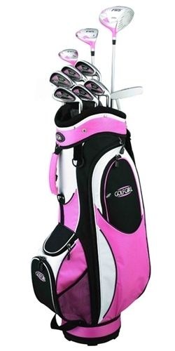 Left Handers Club | High Quality Womens Left Handed Golf Club Set with Pink Bag