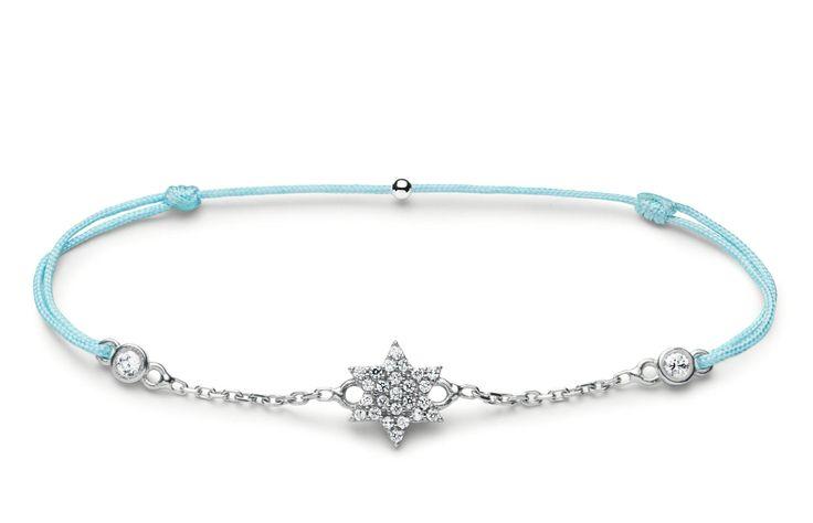 Charm'ed bracelet by Charm'ed Copenhagen - Star /Chain -Choose your own color of ribbon www.charmedcopenhagen.com - #charmed #bracelet #danishdesign #eye #jewellery #armbånd #smykker #charmed_cph #rikkehandrecknovod