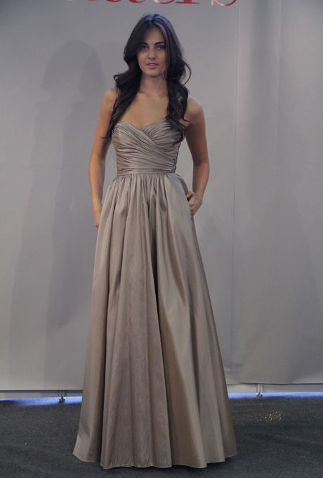 Brides.com: Watters Maids Bridesmaid Dresses - Fall 2012. Dress by Watters  See more Watters bridesmaid dresses in our gallery.