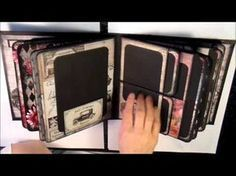 How to make a 6x4 mini album with open pockets and flaps. Base tutorial - YouTube