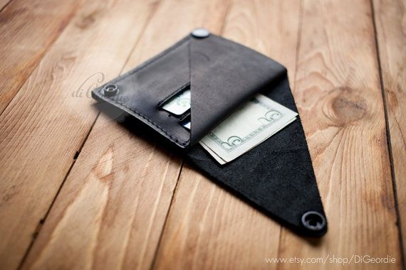 Leather wallet woman coin pocket wallet slim wallet by DiGeordie