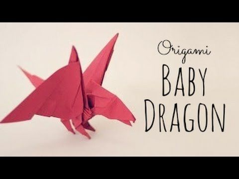 ▶ Origami Baby Dragon Tutorial (Tadashi Mori) - YouTube