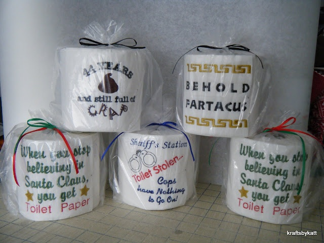Toilet paper with embroidery per roll krafty katt