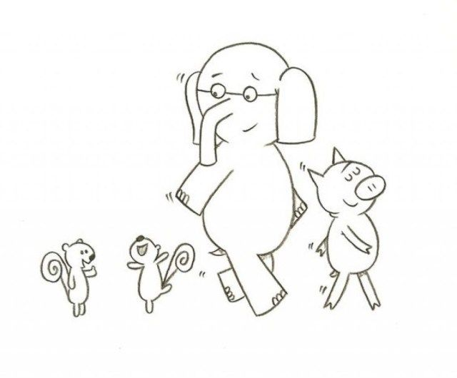 Elephant And Piggie Coloring Page Elephant Coloring Page Bunny Coloring Pages Elephant Images