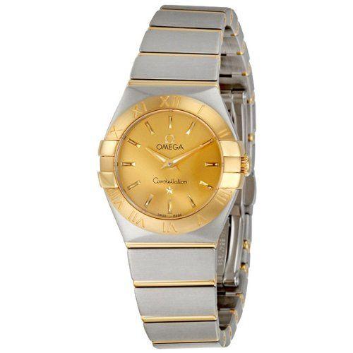 Omega Women's 123.20.24.60.08.001 Constellation Champagne Dial Watch * Click...