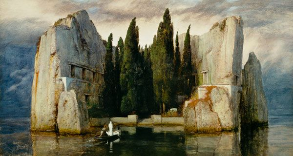 """Island of the Dead"" - Arnold Bocklin, oil on panel, 1886."