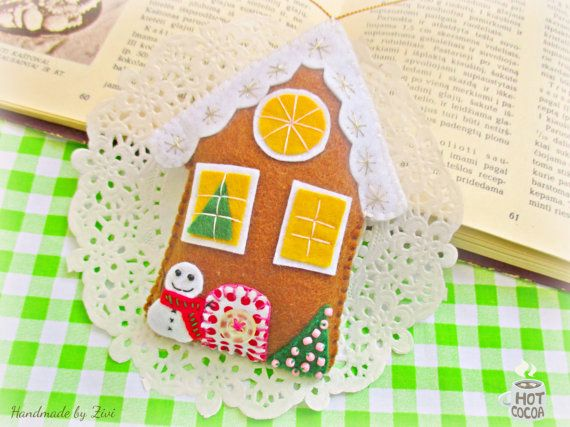 Whimsical Gingerbread House Xmas Ornament by elrinconcitodezivi