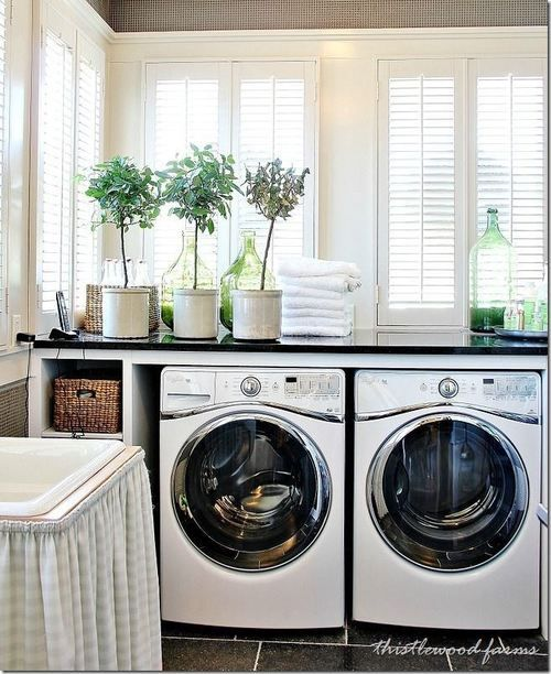 What about a sink in the laundry room? Maybe leave a spot for it then use the one from the bathroom when we re do that!