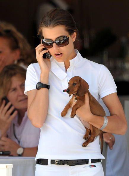 Charlotte of Monaco, dachshund puppy