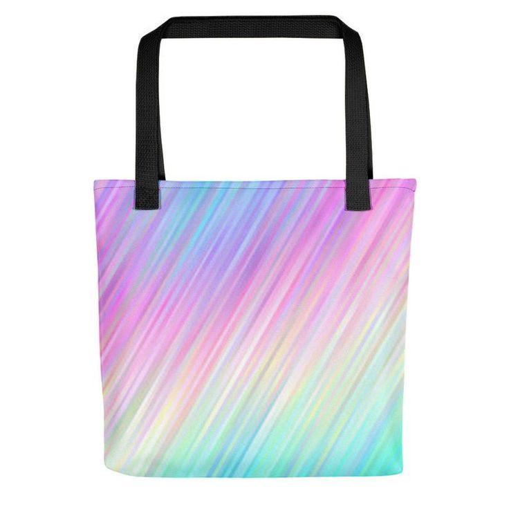 Fairy Kei Pastel Goth Rainbow Shopper Bag Beach Bag Custom Tote Bag Grocery Bag Large Tote Bag Unicorn Soft Grunge Kawaii Clothing Harajuku