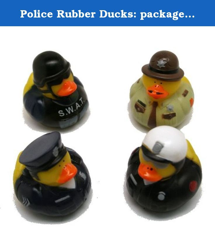 Police Rubber Ducks: package of 12. Police rubber ducks are a great way to add some extra fun to your duck river race. If you are having a fund raiser for your local police officers these rubber ducks are a great way to get your rubber duck race into the right theme. Never held a Duck Race Fundraiser before? Don?t worry it?s an easy and great fundraiser for any event. Start by purchasing your duck race ducks and then number each ducky. ?Sell? each duck to the duck race fundraiser...